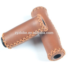 Vintage bike grips retro handlebar grips 90 / 127MM Classic bikes leather handle grip