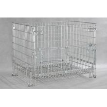 Recipiente do fio de aço da gaiola do armazenamento / caixa dobrável com preço de fábrica