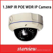 1.3MP WDR IP IR Ik10 Vandalproof CCTV Cámara domo de seguridad