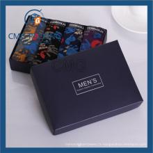Boîte noire pliée avec l'estampillage chaud d'argent