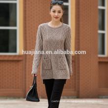 suéter de tejer grueso de cachemira de mujer