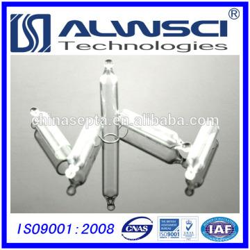 Micro insert en verre transparent de 5 mm 200ul utilisé sur un flacon de 8-425 hplc