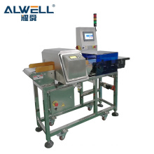 Food Industrial Using Metal Detector and Checkweigher Combination System