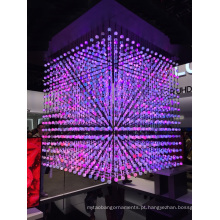 Controle DMX da mudança da cor da corda da bola do diodo emissor de luz do cristal