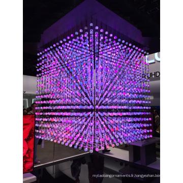 Contrôle de DMX de changement de couleur de chaîne de boule de boule de cristal