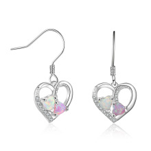 Opal Earring High Quality Heart Shaped jewelry Opal Stone Earrings for Girl