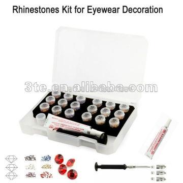 Eyewear Decoração, kit rhinestone decorativo