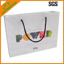 Recém logotipo impresso sacos de portador de papel de alimentos de publicidade