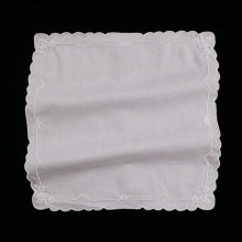 Wedding gift White cotton lace handkerchief embroidery