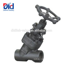 Forged Pneumatic Inch Drawing What Is A Angle Api A105 Steel Threaded End Y Type Globe Valve 1 2