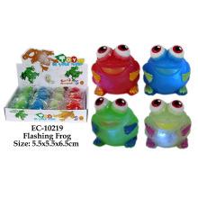 Lustiges blinkendes Froschspielzeug
