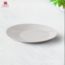 Plat de dîner utilisé par hôtel pour le mariage, coutellerie de restaurant avec le logo