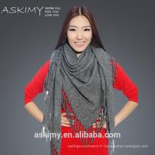 Design unique en gros écharpe triangulaire en laine Soft Feel 100%