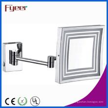 Espejo cosmético cuadrado montado en la pared lateral Fyeer LED
