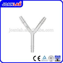 JOAN LAB Tubos de conexión de cristalería en forma de Y con extremo dentado Proveedor
