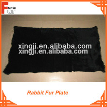 60X120cm Grade A dyed rabbit fur plate