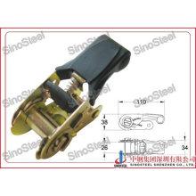 "1""-25mm Rubber Handle Binding Ratchet Strap Buckle"