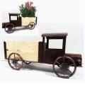 Dekorative Dekoration Metall LKW Garten Pflanzmaschine Handwerk mit Holzwagen