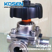 Stainless Steel Three Way Diaphragm Valves (G44)