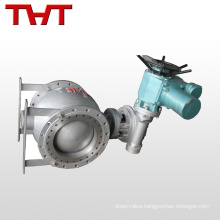 Motorized 2-way steel eccentric half ball valve