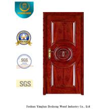 Puerta de seguridad de acero de estilo clásico para interiores (b-6007)