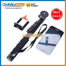 Melhor qualidade selfie vara, vara de selfie com o botão do obturador de bluetooth, bluetooth selfie vara