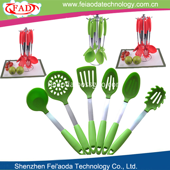 6pcs per set silicone kitchen utensils