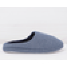 Blue stripe women slipper 2016 slip on indoor shoes winter cheap price bedroom TPR outsole shoes