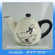 Tetera de cerámica creativa de pato de la etiqueta para la decoración