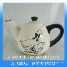 Creative decal duck ceramic teapot for decor