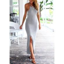 Summer Sleeveless Long Women's Cotton Dress