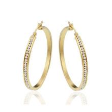 Runde Gold Ohrstecker für Frauen, Gold Kristall Ohrring Verkauf