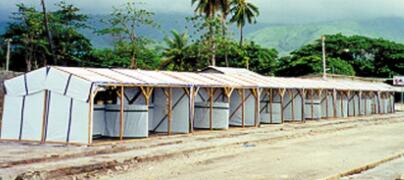 PE tarpaulin reinforced with black bands