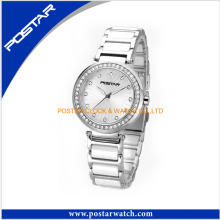 Diamond Round Dial Swiss Watch for Unisex with Stainless Steel