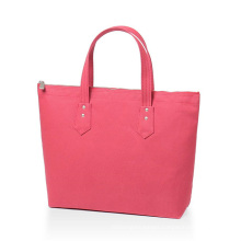 Personalized Gift Ladies Shopping Bag 100% Cotton Two Tone Chic Tote Bag with Customize Option - Black Handbags for Women