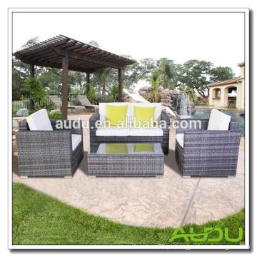 Audu Knock Down Steel Rattan Furniture Outdoor