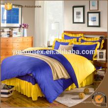 Conjunto de ropa de cama de cama tingido de cama de tamaño real conjunto de cama 4pcs, 2016 nuevos productos
