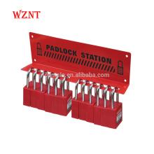 Station de consignation portative en acier de calibre lourd de 15 serrures avec la finition de manteau de poudre