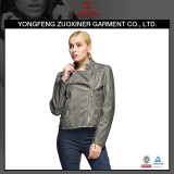 gery spring pu leather jackets women