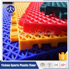 Открытый пластиковые плитки ПП для баскетбола, PP блокируя пол