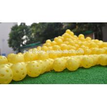 Golf ball plastic practice balls airflow ball golf swing trainer aids yellow