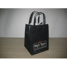 150GSM Printed Kraft Paper Bag with Flat Paper Handles (hbpb-68)
