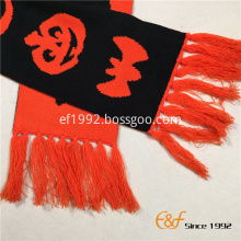Acrylic Halloween Knitted Winter Double Jacquard Scarf