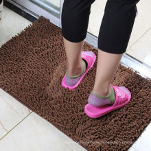 brown shaggy plain door mat in china market