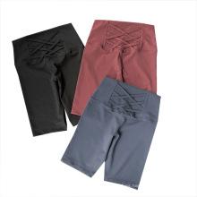 Leggings cortos activos de cintura alta para mujer