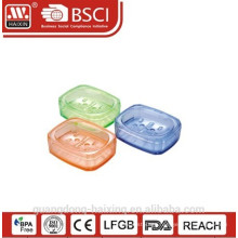 nice transparent Popular plastic soap dish with low price