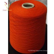 Hand Spun Orange Organic Cashmere Yarn
