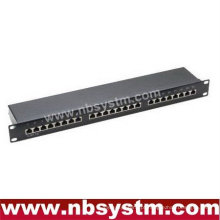 "24 portas STP Cat5e Patch Panel 19 ""1U, Krone IDC"
