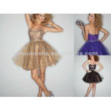 NY-2365 Beaded Tulle Over Sequins vestido de quinceañera