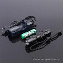 Lampe de poche rechargeable avec Ce, RoHS, MSDS, ISO, SGS